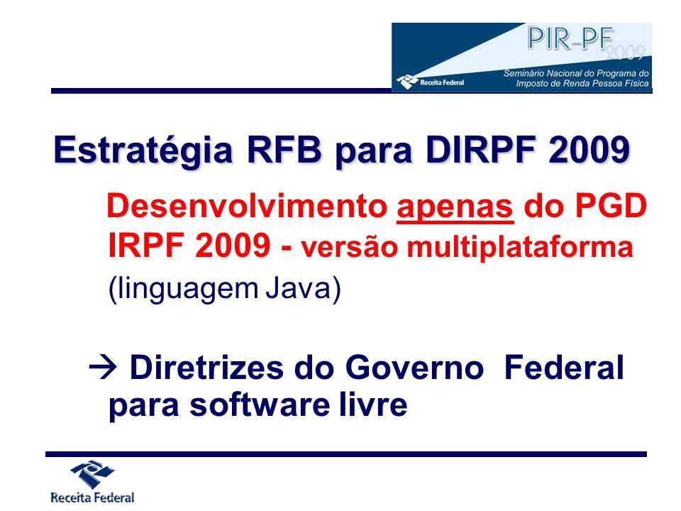 Estratégia RFB para DIRPF 2009
