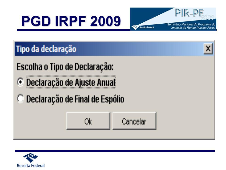 PGD IRPF 2009