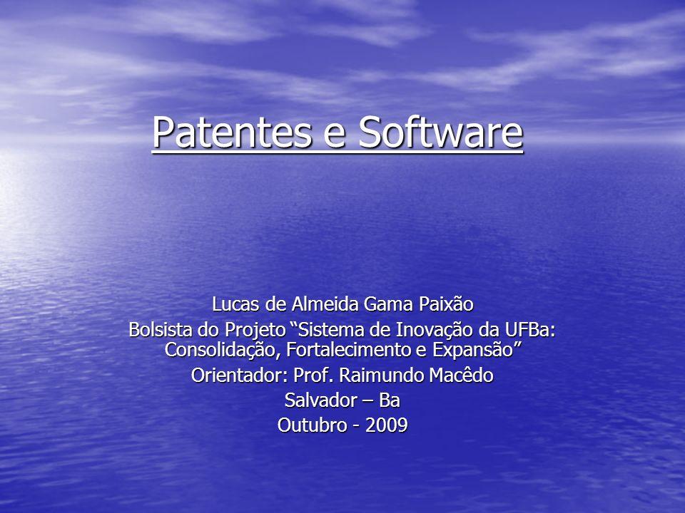 Patentes e Software Lucas de Almeida Gama Paixão