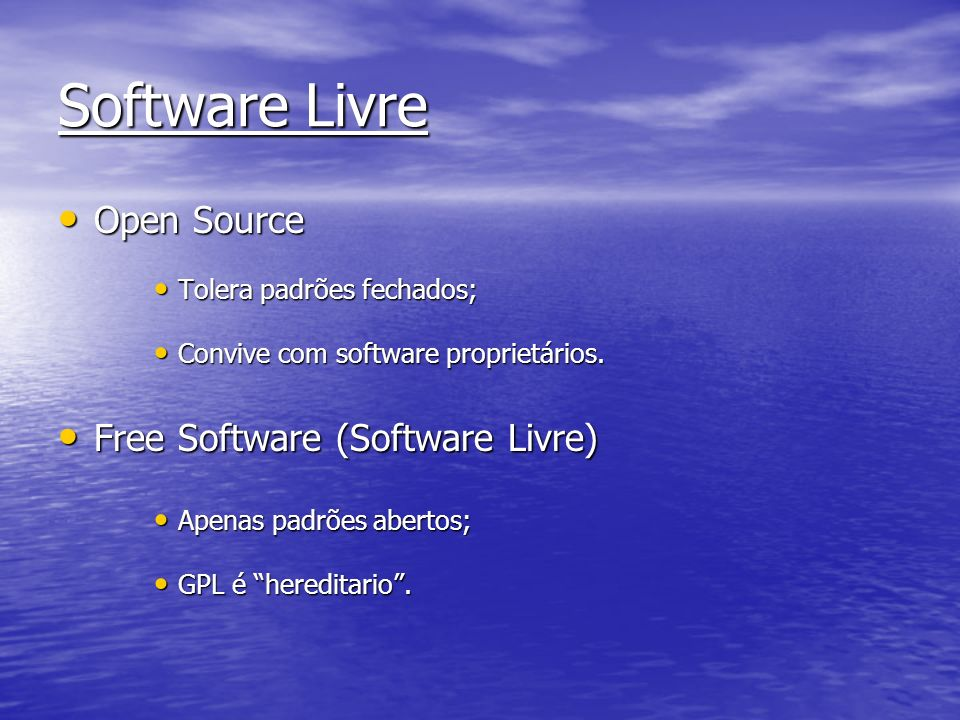 Software Livre Open Source Free Software (Software Livre)