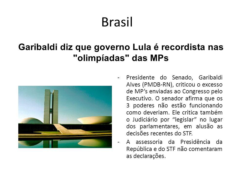 Garibaldi diz que governo Lula é recordista nas olimpíadas das MPs
