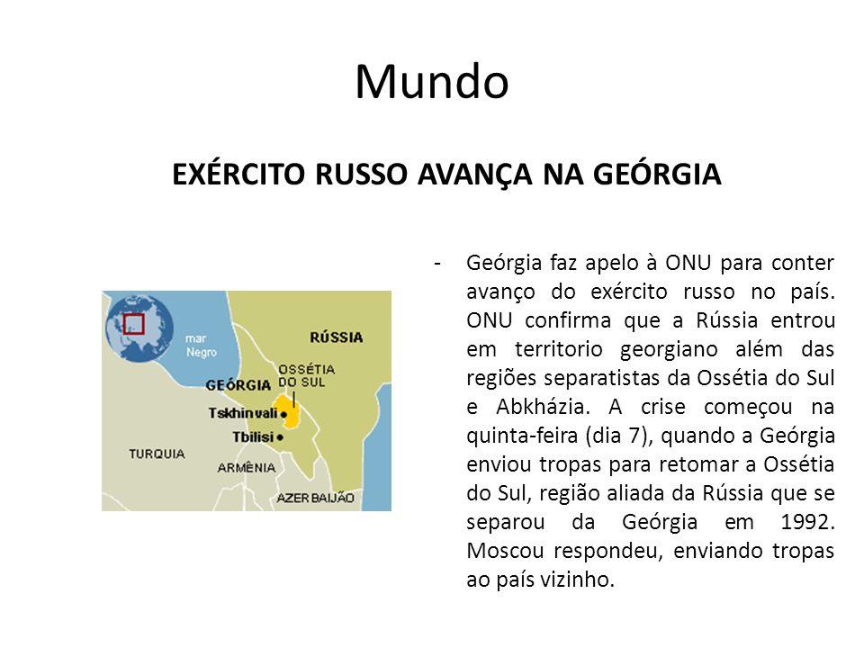EXÉrcito russo avança na Geórgia