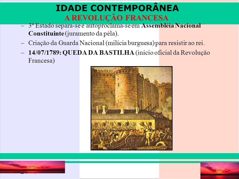 3º Estado separa-se e autoproclama-se em Assembléia Nacional Constituinte (juramento da péla).
