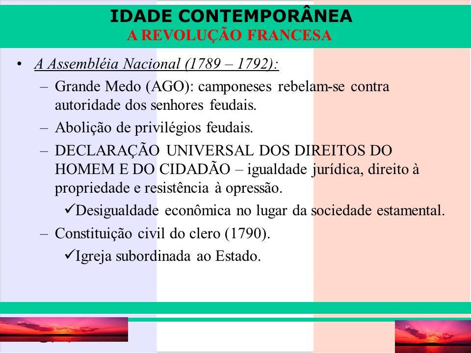 A Assembléia Nacional (1789 – 1792):