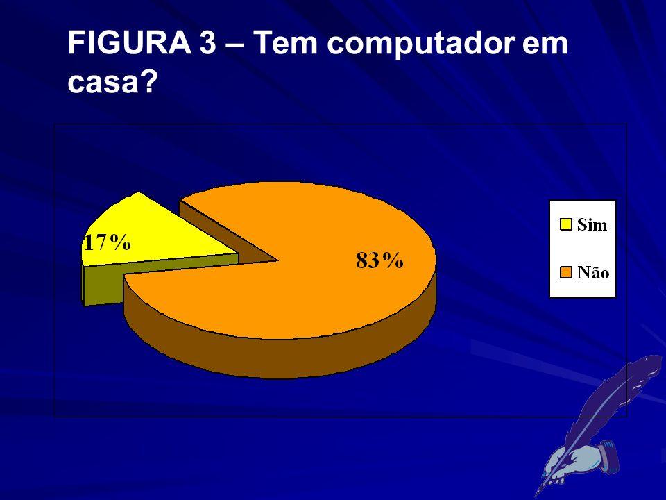 FIGURA 3 – Tem computador em casa