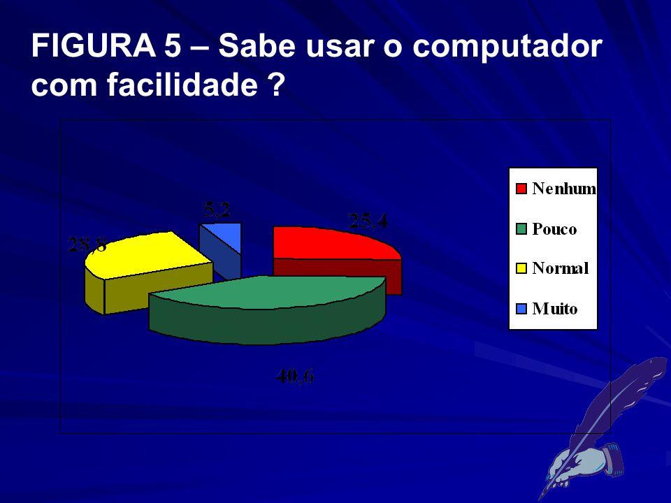 FIGURA 5 – Sabe usar o computador com facilidade
