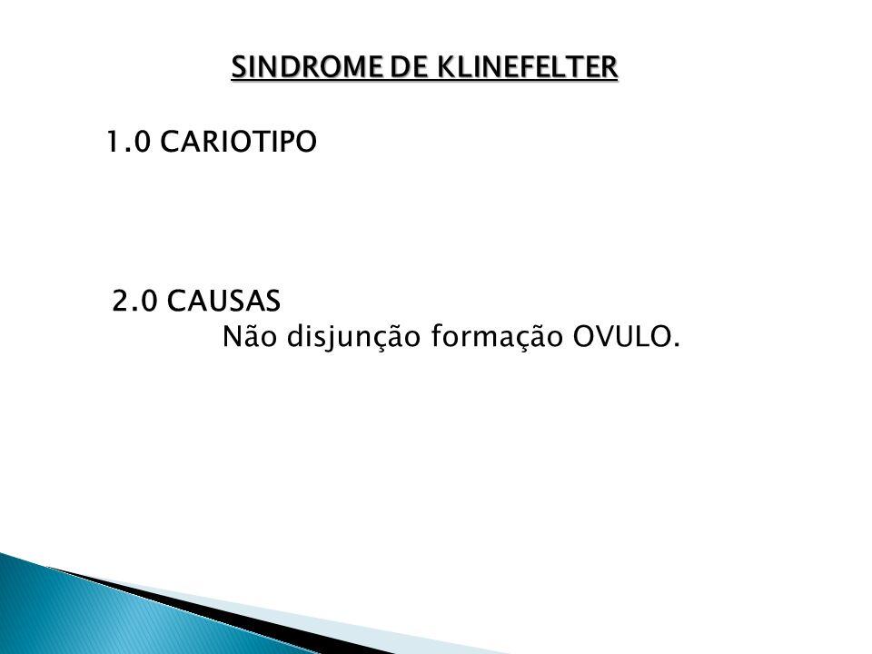 SINDROME DE KLINEFELTER