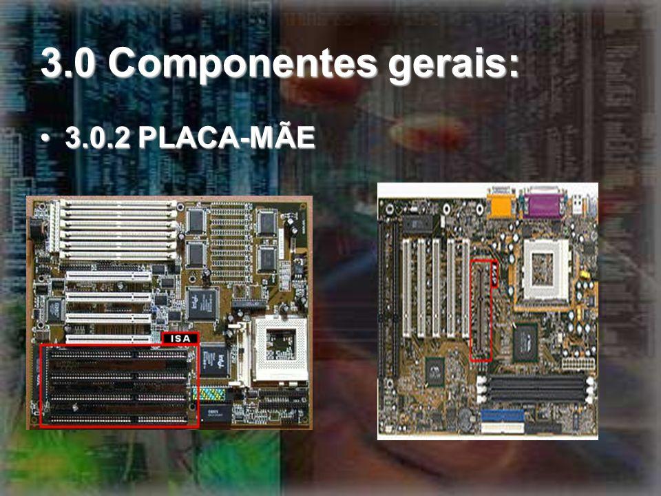 3.0 Componentes gerais: 3.0.2 PLACA-MÃE