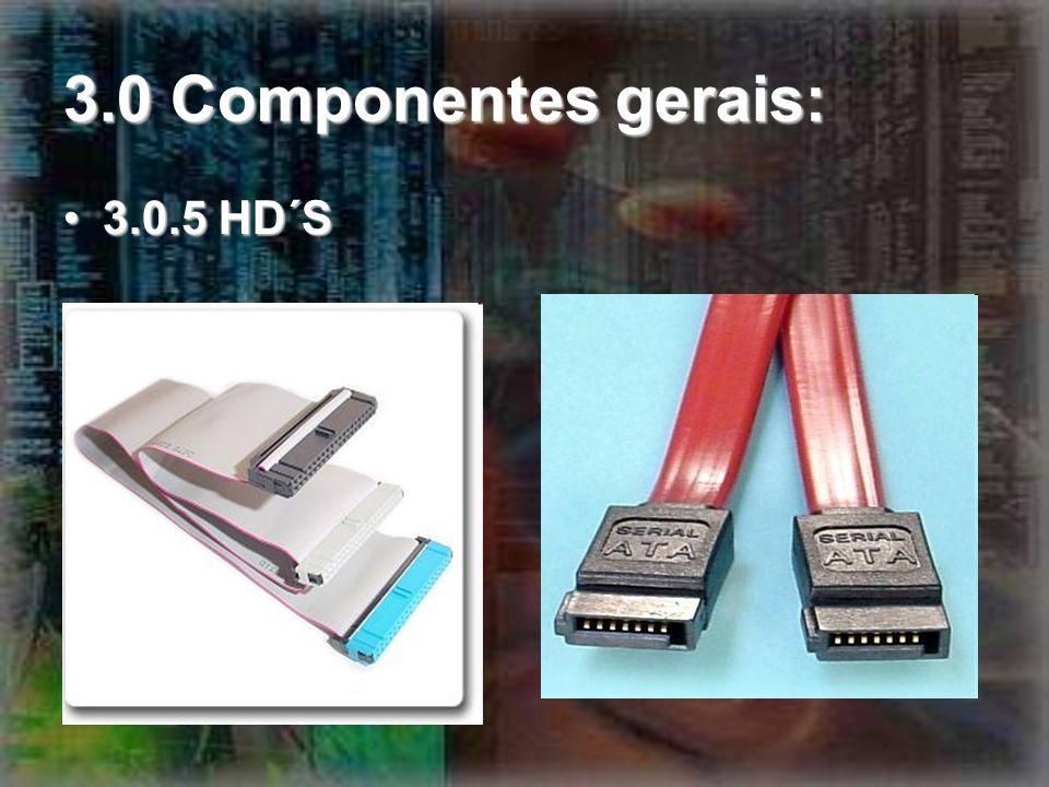 3.0 Componentes gerais: 3.0.5 HD´S