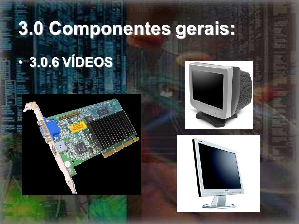 3.0 Componentes gerais: 3.0.6 VÍDEOS