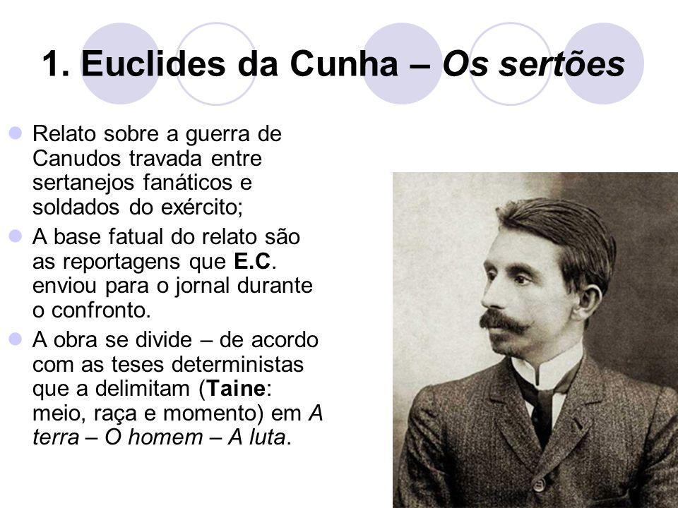 1. Euclides da Cunha – Os sertões