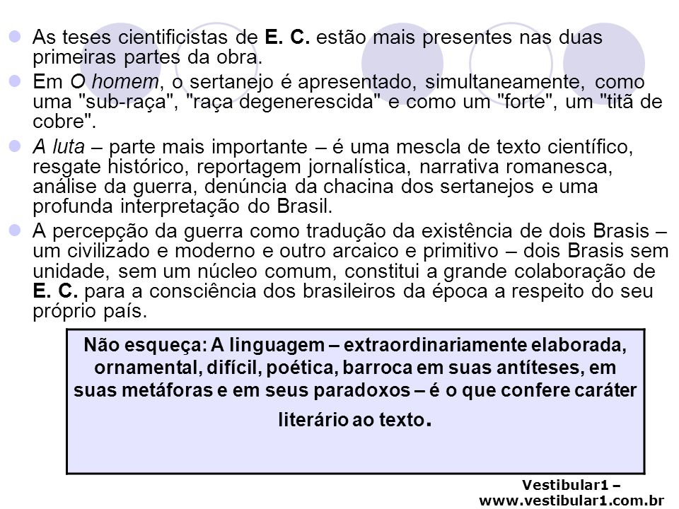 As teses cientificistas de E. C