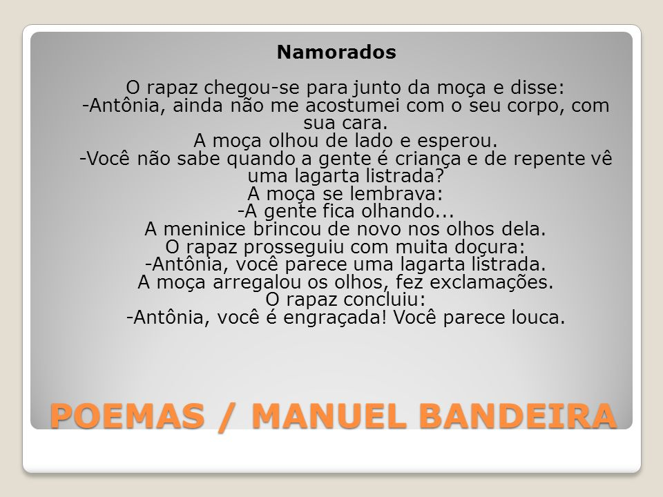 POEMAS / MANUEL BANDEIRA