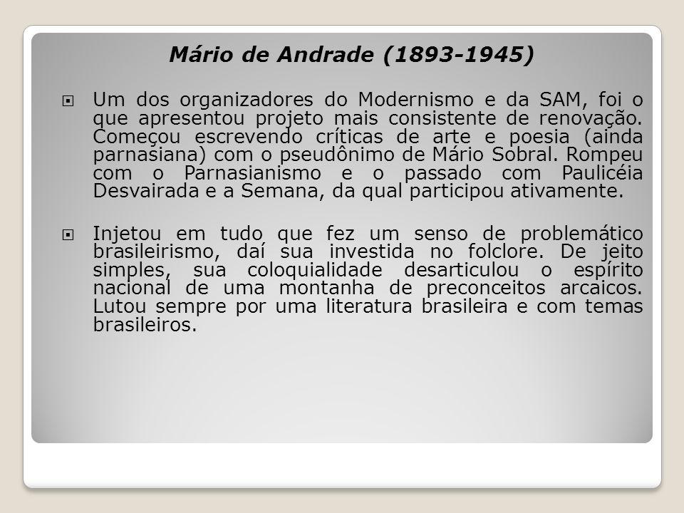 Mário de Andrade (1893-1945)
