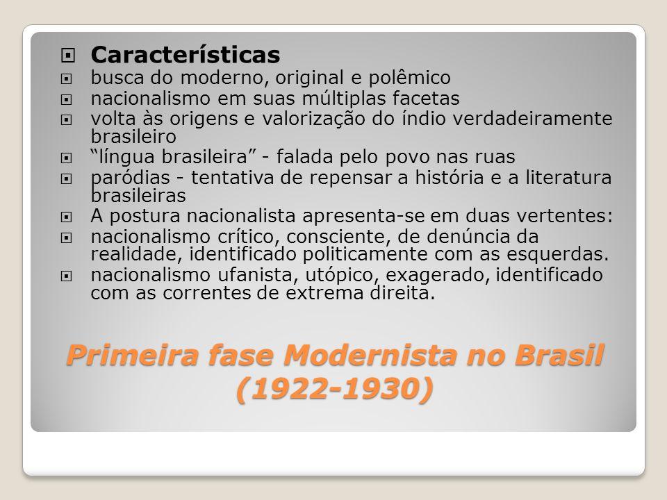 Primeira fase Modernista no Brasil (1922-1930)