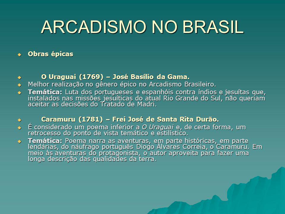 ARCADISMO NO BRASIL Obras épicas