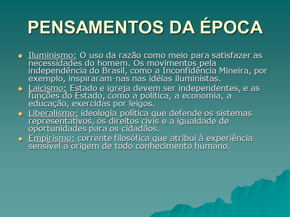 PENSAMENTOS DA ÉPOCA