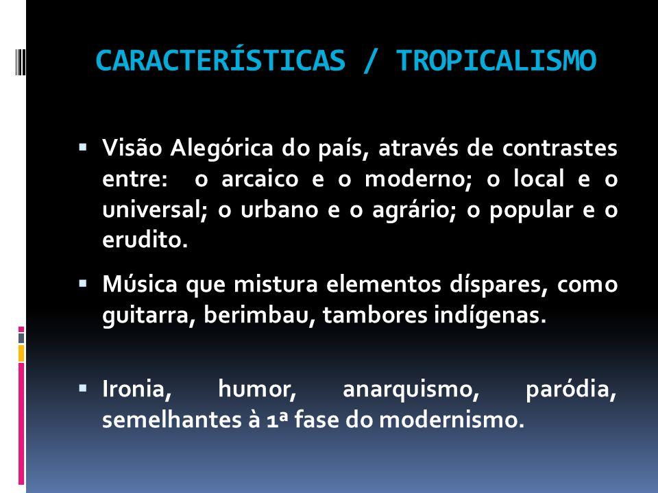 CARACTERÍSTICAS / TROPICALISMO