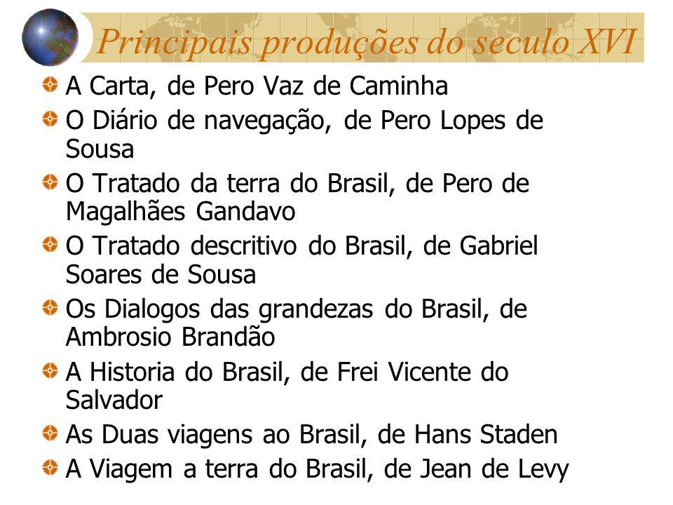 Principais produções do seculo XVI