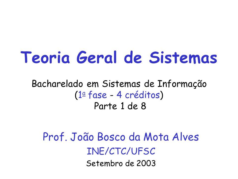 Prof. João Bosco da Mota Alves INE/CTC/UFSC Setembro de 2003