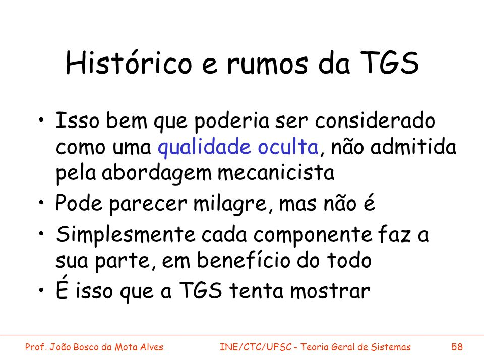 Histórico e rumos da TGS