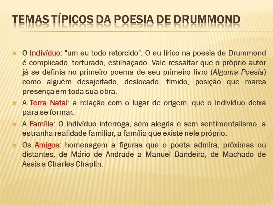 Temas típicos da poesia de Drummond
