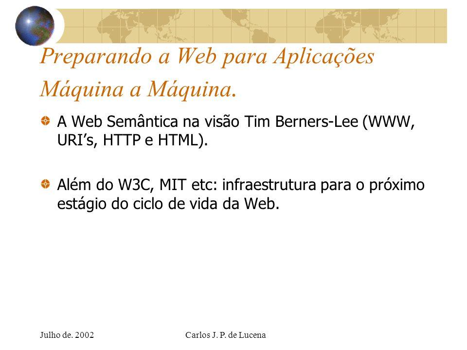 Preparando a Web para Aplicações Máquina a Máquina.