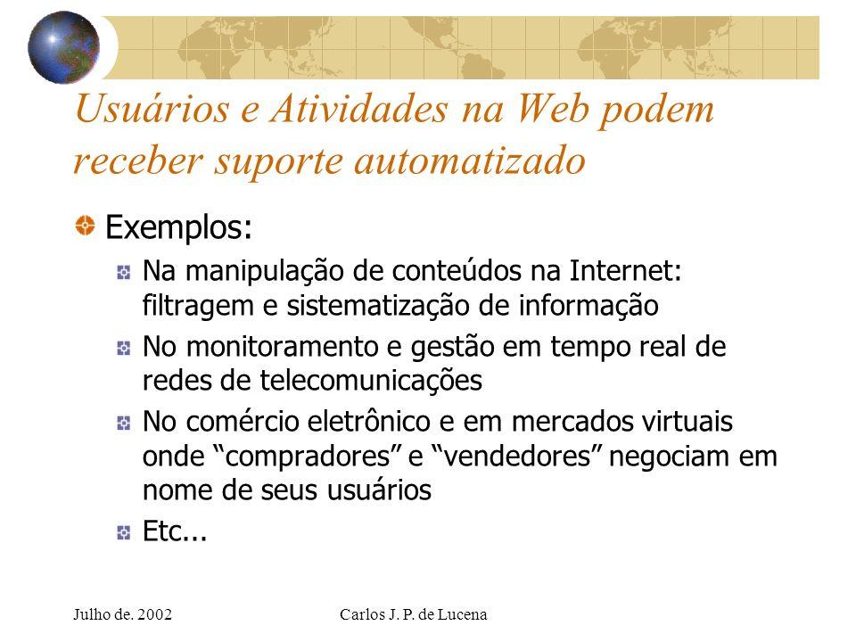 Usuários e Atividades na Web podem receber suporte automatizado