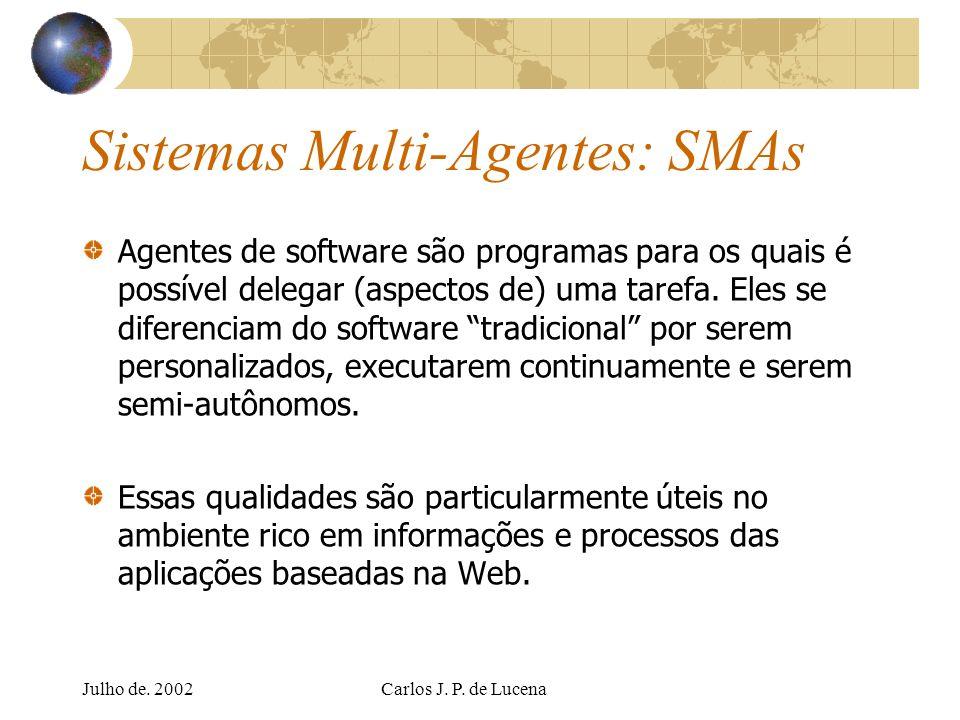 Sistemas Multi-Agentes: SMAs