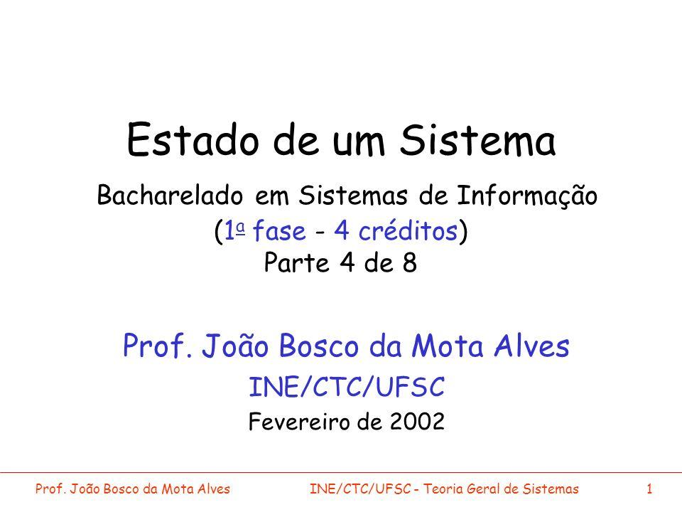 Prof. João Bosco da Mota Alves INE/CTC/UFSC Fevereiro de 2002