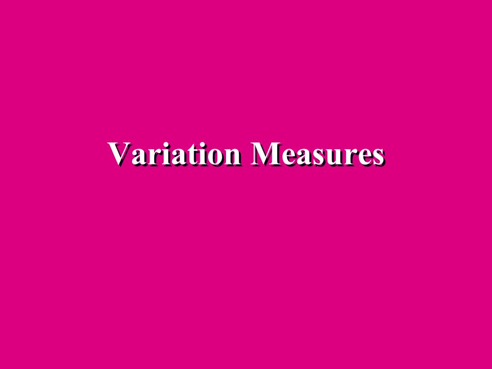 Variation Measures 25