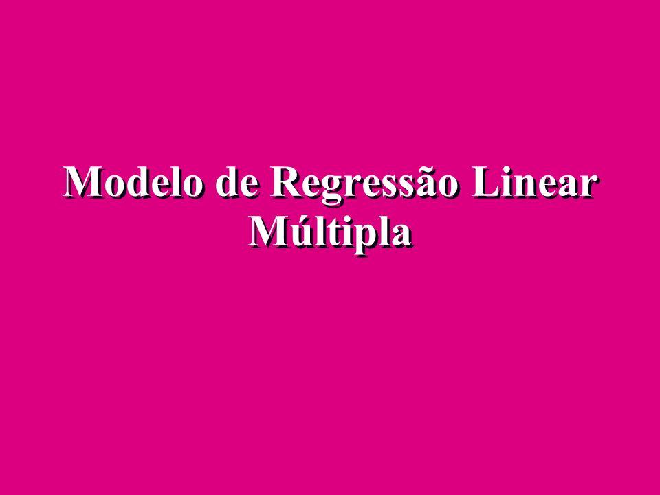 Modelo de Regressão Linear Múltipla