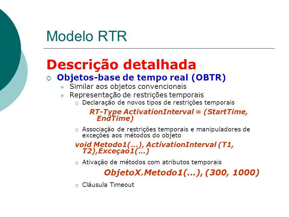 Modelo RTR Descrição detalhada Objetos-base de tempo real (OBTR)