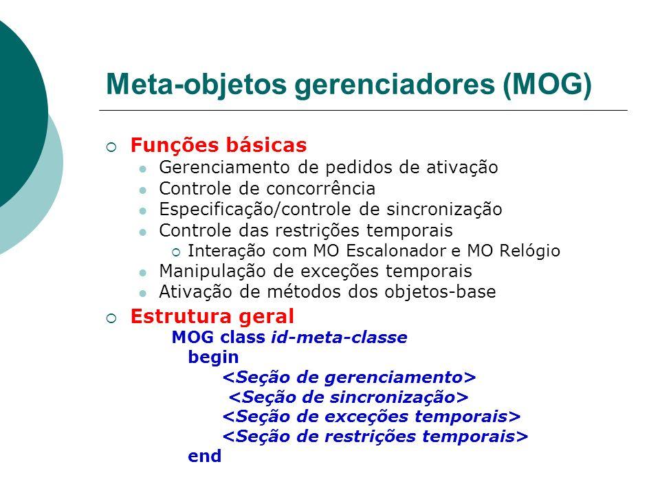 Meta-objetos gerenciadores (MOG)