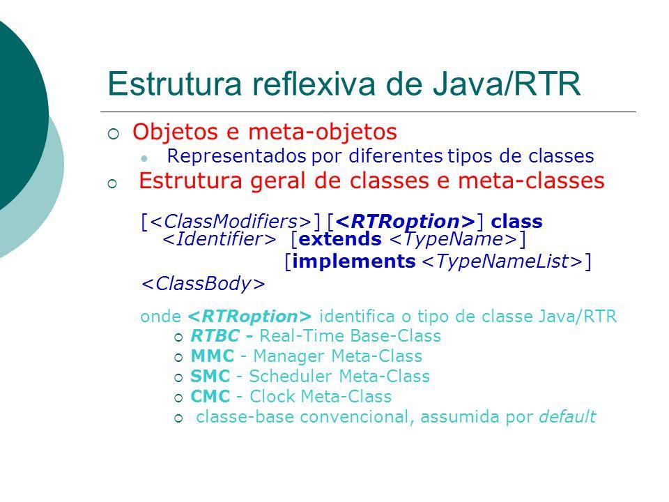 Estrutura reflexiva de Java/RTR