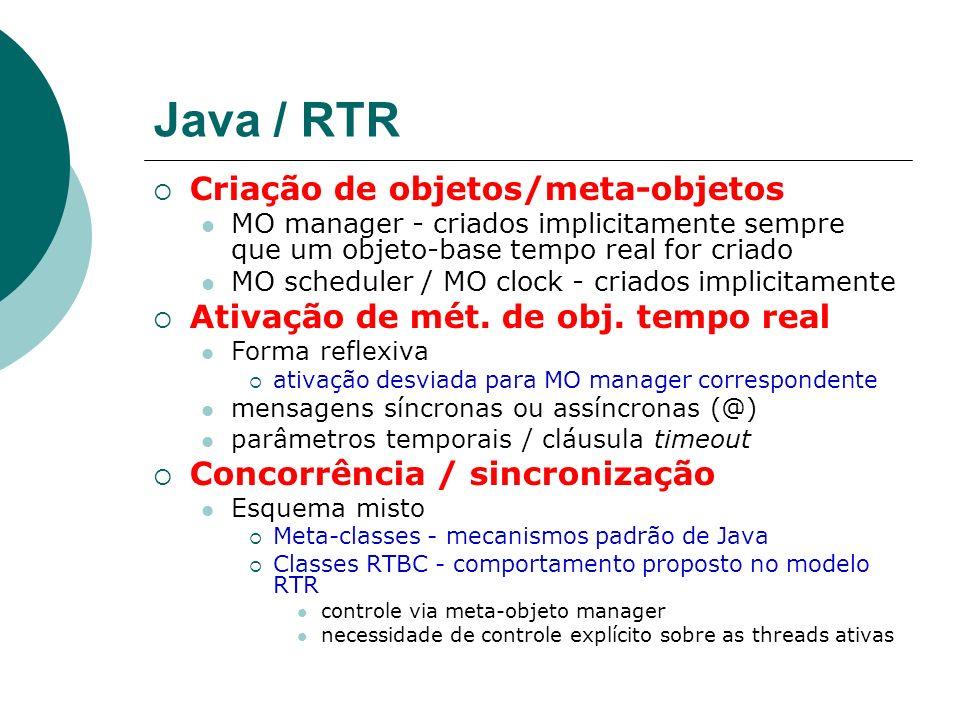Java / RTR Criação de objetos/meta-objetos