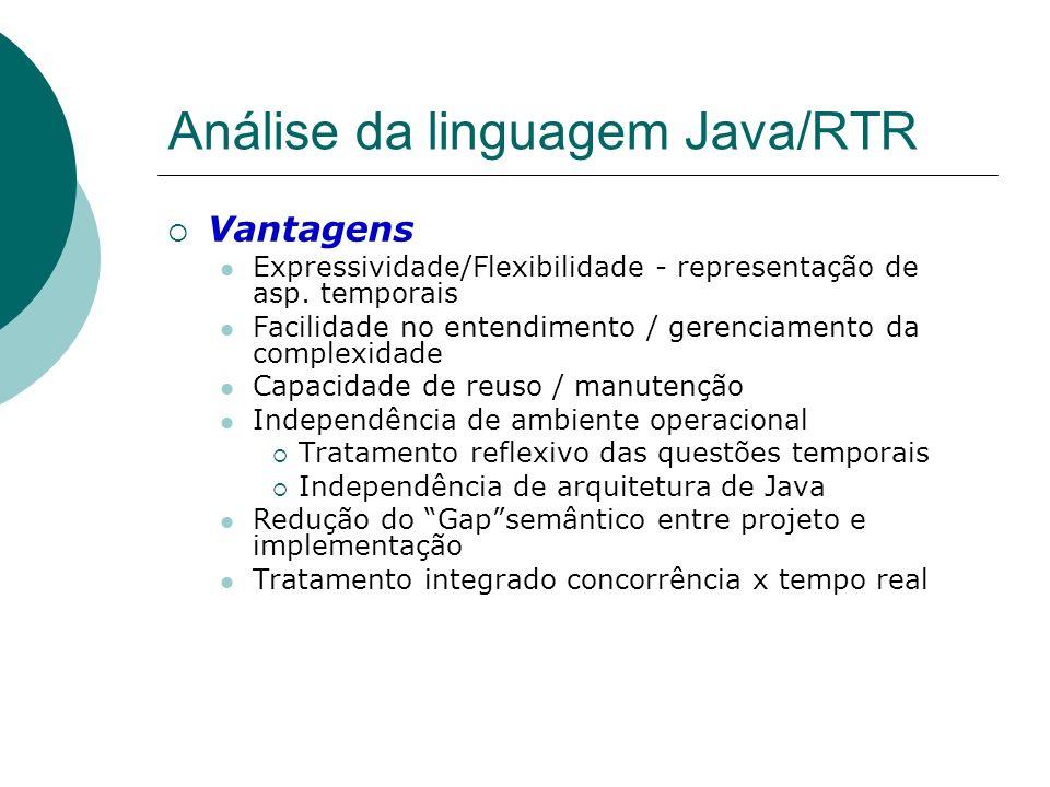 Análise da linguagem Java/RTR