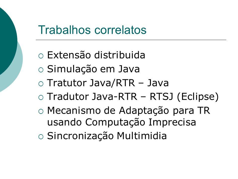Trabalhos correlatos Extensão distribuida Simulação em Java
