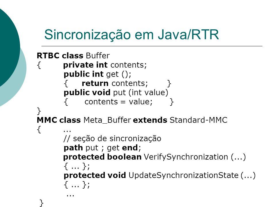Sincronização em Java/RTR