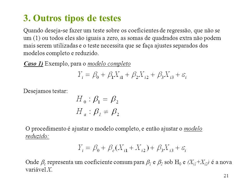 3. Outros tipos de testes