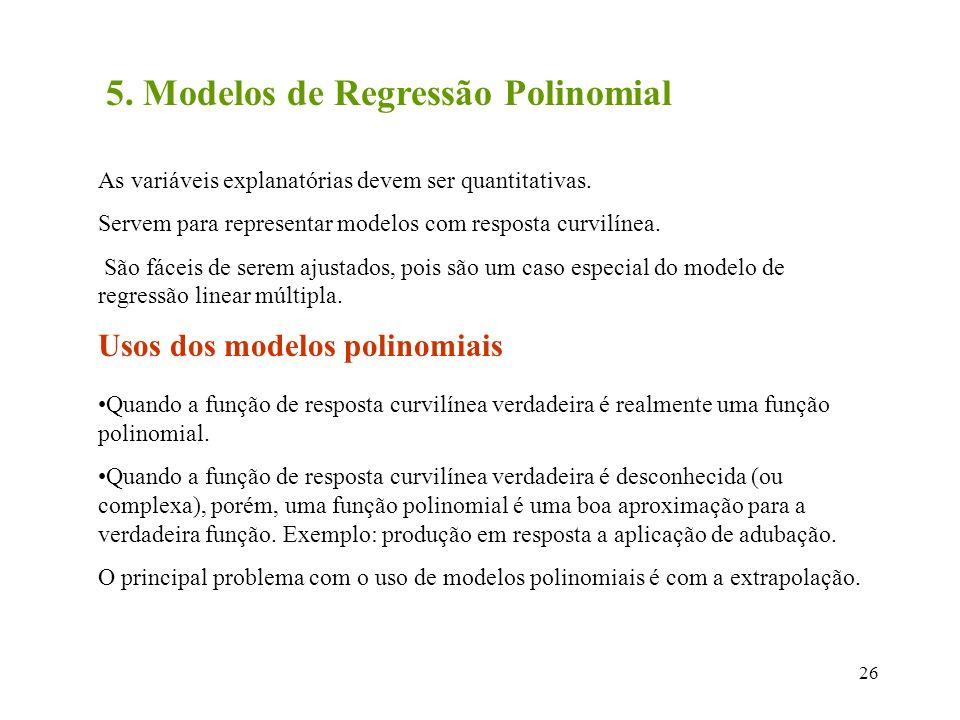 5. Modelos de Regressão Polinomial