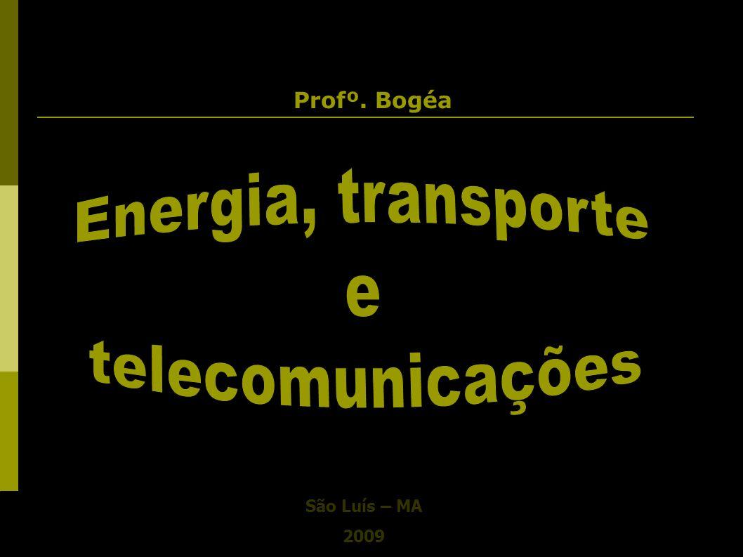Profº. Bogéa Energia, transporte e telecomunicações São Luís – MA 2009