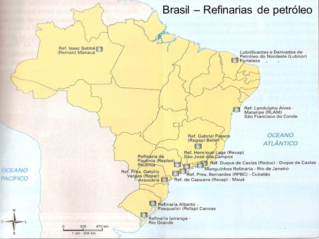 Brasil – Refinarias de petróleo