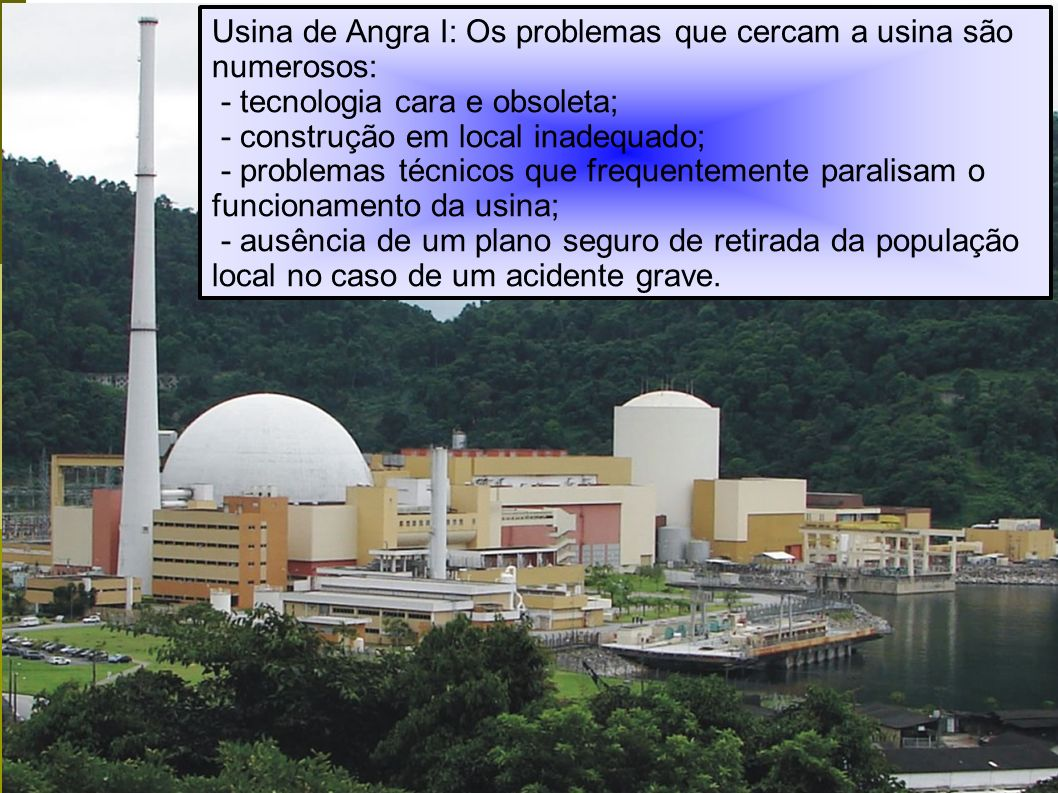 Usina de Angra I: Os problemas que cercam a usina são numerosos: