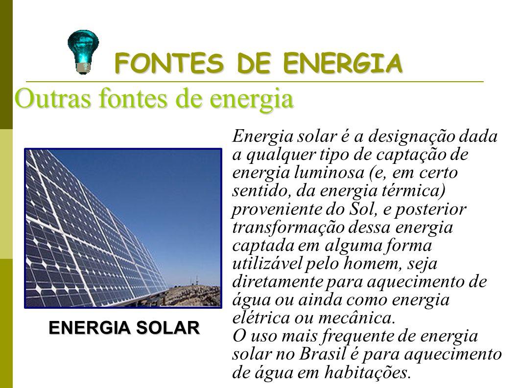 Outras fontes de energia