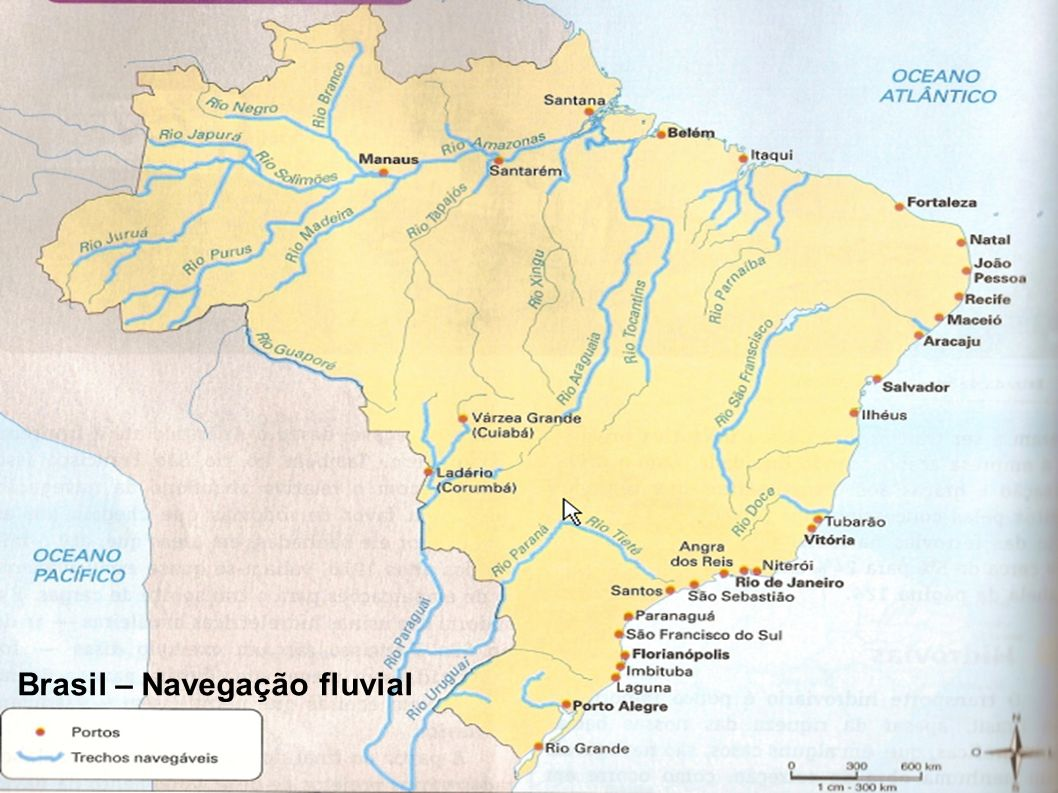 Brasil – Navegação fluvial