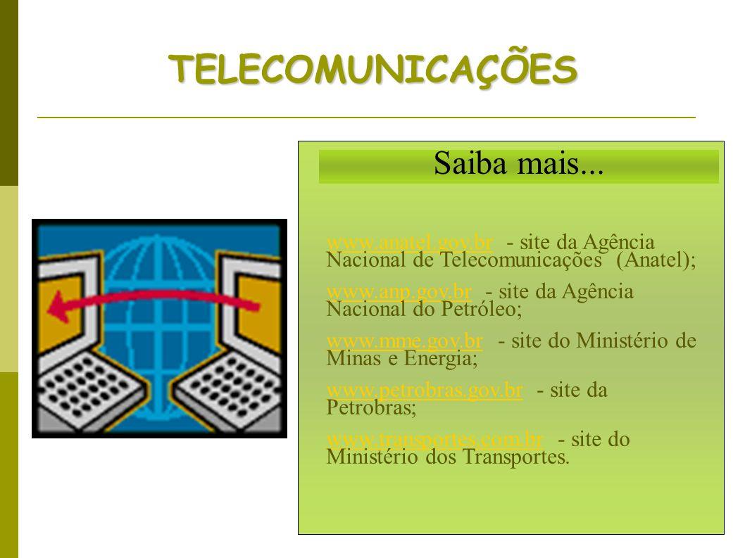 TELECOMUNICAÇÕES Saiba mais...