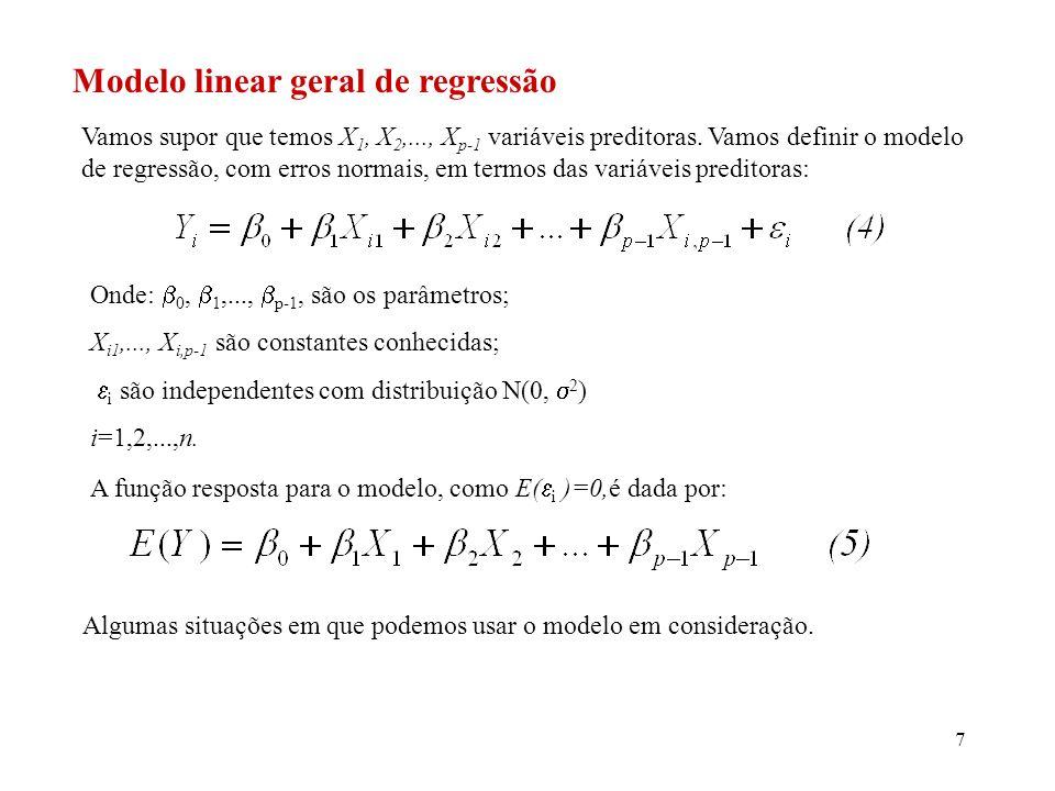Modelo linear geral de regressão