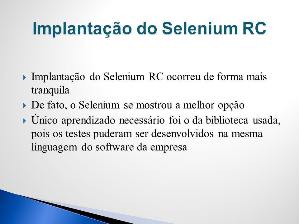 Implantação do Selenium RC