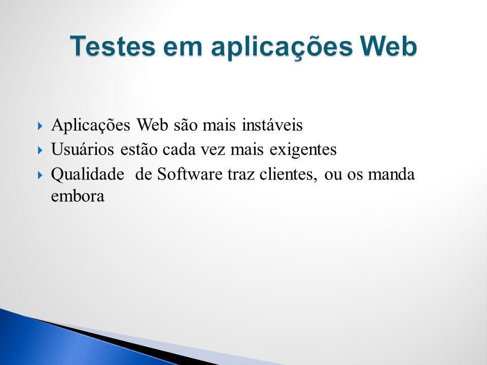 Testes em aplicações Web